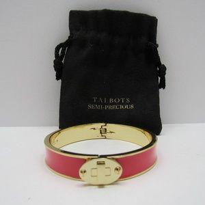 Talbots Pink & Gold Bangle Bracelet